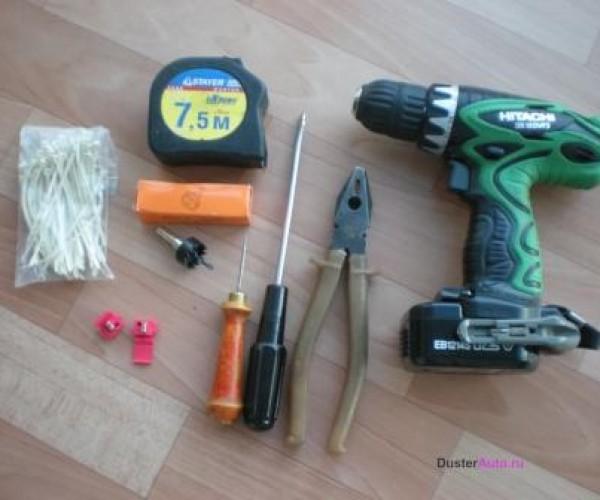 Основные инструменты для установки